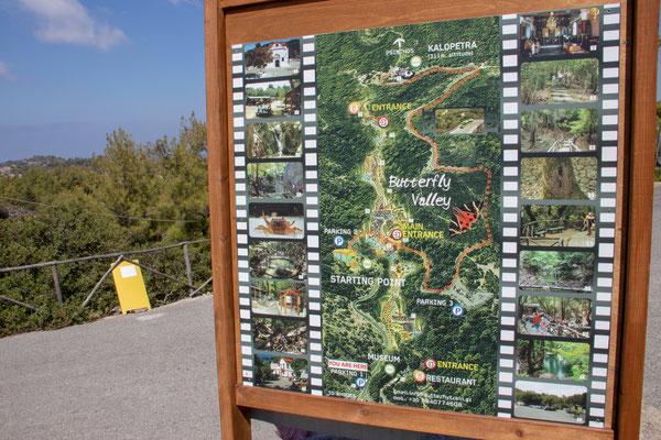 Tal der Schmetterlinge -  eine der berühmtesten Sehenswürdigkeiten auf Rhodos.