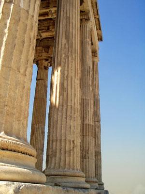 Teilansicht des Parthenontempels auf der Akropolis