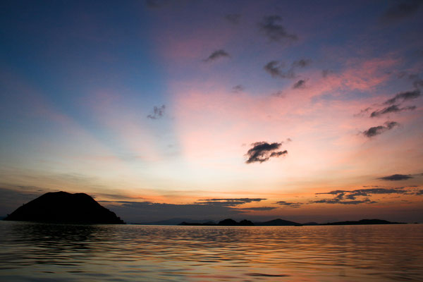 Traum-Sonnenuntergang