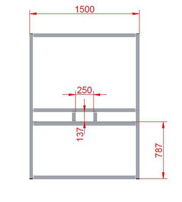 Trennwandsystem Box Maße