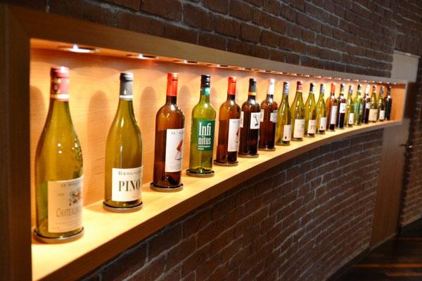 Auswahl in der Vinothek