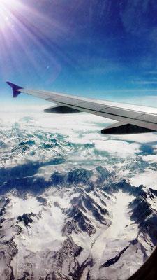 Flug über die Alpen © Ben Simonsen