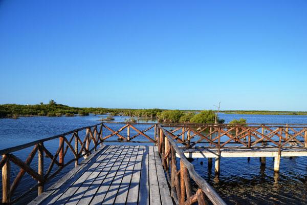 Lagune im Punta Sur Eco Beach Park
