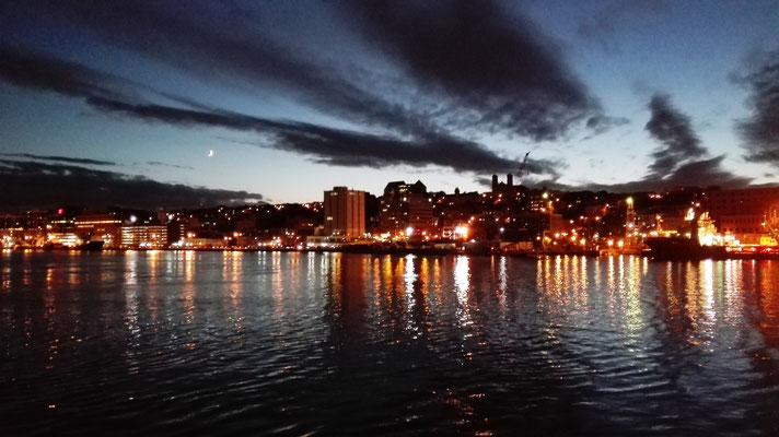 Abendliches Auslaufen in St. John's