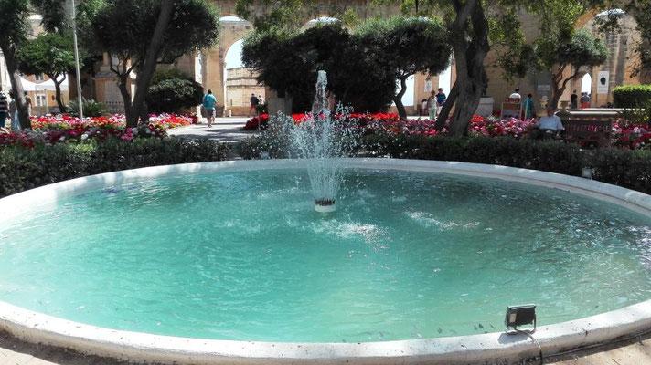 Brunnen im Upper Baracca Garden