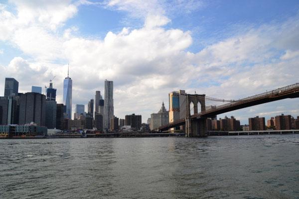 Skyline Manhattan mit Brooklyn Bridge