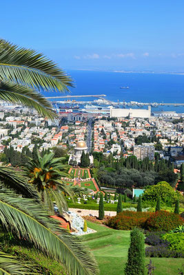 Viewpoin Haifa mit Blick auf die Stadt