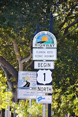 Beginn von Highway 1