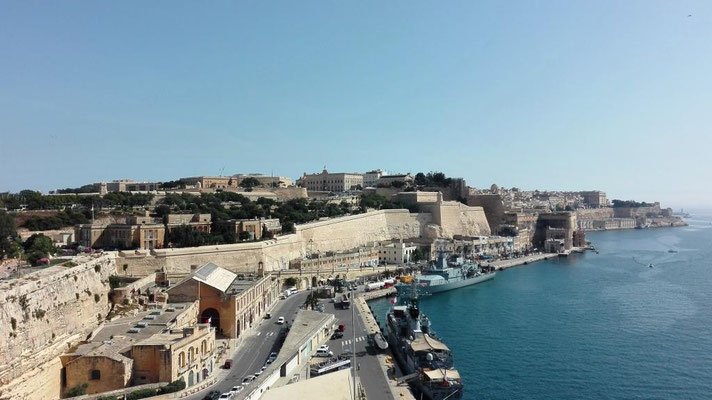 Blick auf Valletta