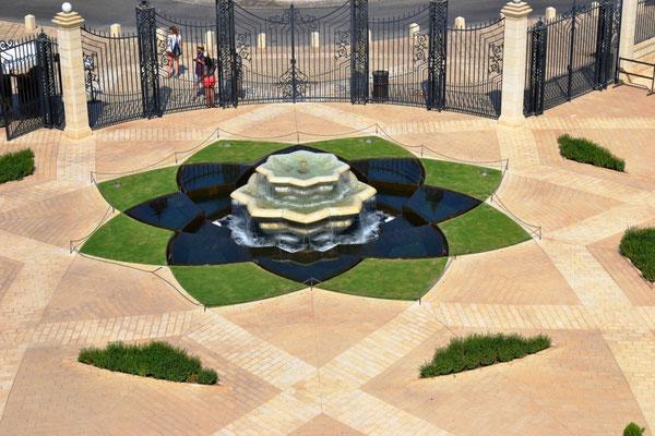 Springbrunnen am Schrein des Bab
