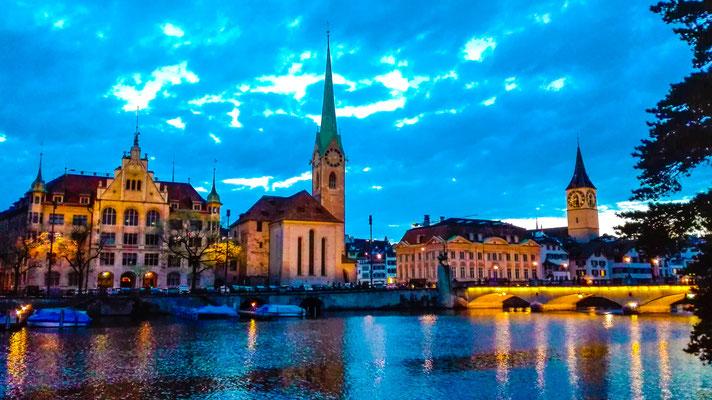 Zürich in der Dämmerung