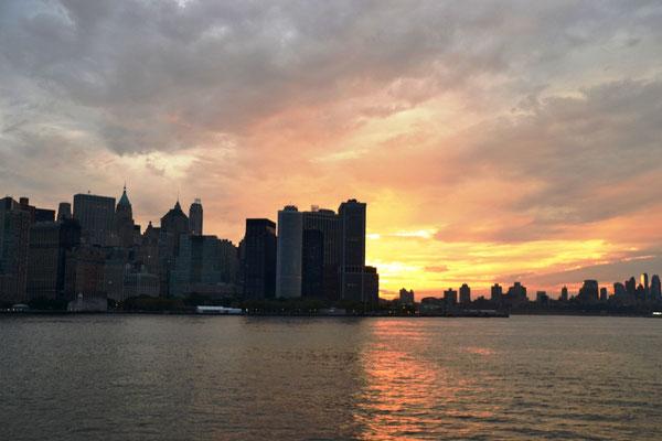 Skyline South West Manhattan with Battery Park