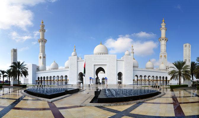 Grand Sheik Zayed Moschee Abu Dhabi © Ben Simonsen