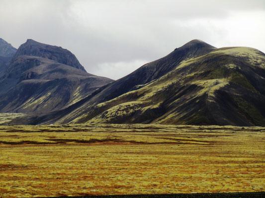 Hügellandschaft auf Island