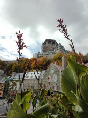 Blick zum Chateau Frontenac von der Marche Champlain aus ©Ben Simonsen