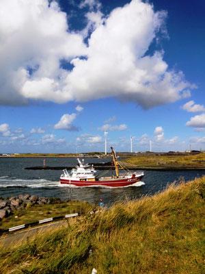 Einfahrt Nordseekanal Niederlande