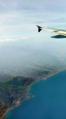 Flug entlang der Côte d'Azur © Ben Simonsen