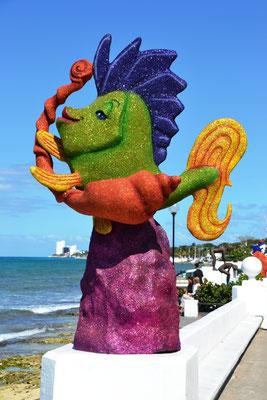 Meeresbewohner an der Promenade von San Miguel de Cozumel