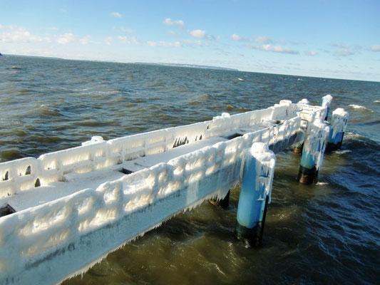 Vereiste Seebrücke
