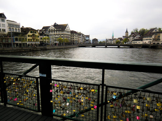Mühlensteg Liebesbrücke