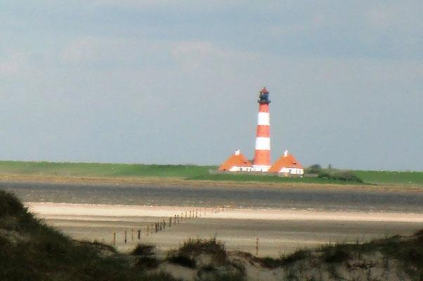 Blick zum Westerheever Leuchtturm