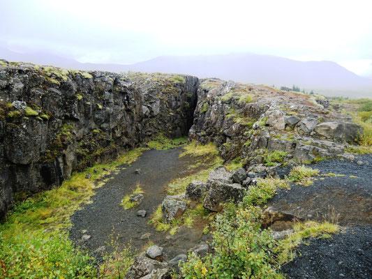 Kontinentalplattendrift auf Island