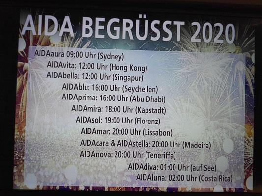 AIDA begrüsst 2020 © Ben Simonsen