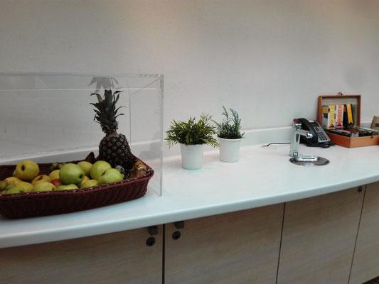 Obst und Getränke