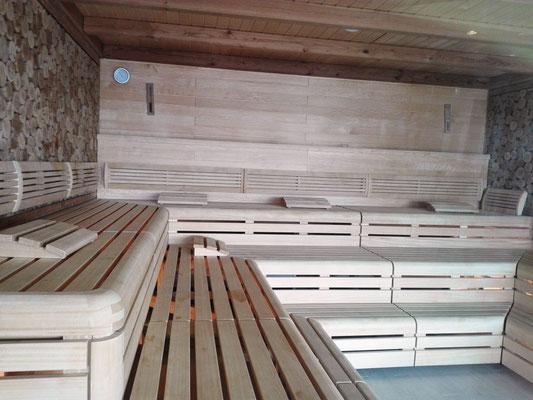 Sauna im Body & Soul Organic Spa © Ben Simonsen