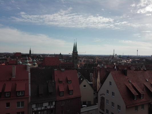 Blick von der Burg auf die Altstadt