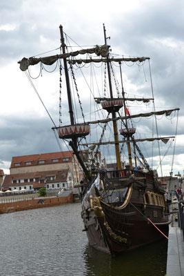 Dreimaster im Danziger Hafen
