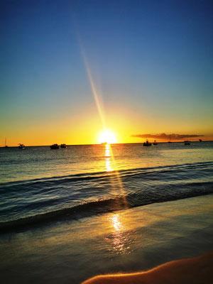 Sonnenuntergang am Carlisle Beach © Ben Simonsen