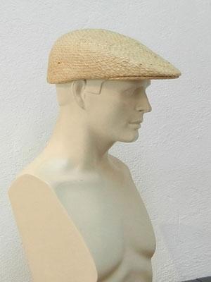 Flatcap in einem Guss aus Raffiastroh