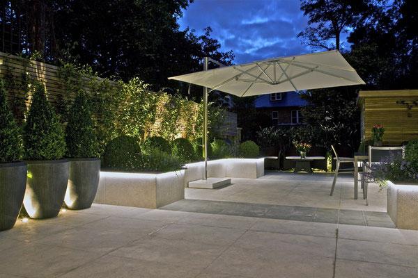 Aménagement de terrasse contemporaine
