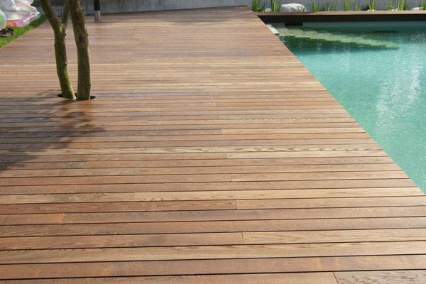 Terrasse bois - Plage de piscine