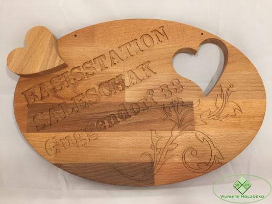 Empfangs-Schild Holz