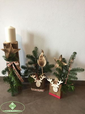 Altholz Weihnachtsdekoration