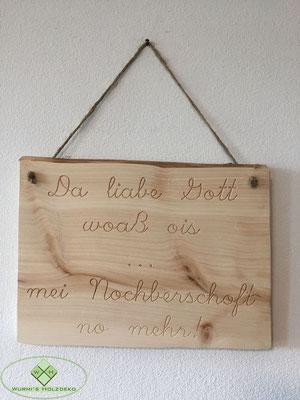 Holzschild Spruch