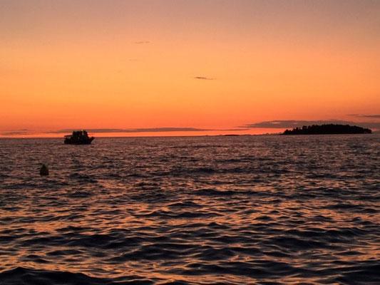 Meer - Rovinj - Sonnenuntergang