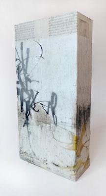 Wachstechnik und Collage, 2014