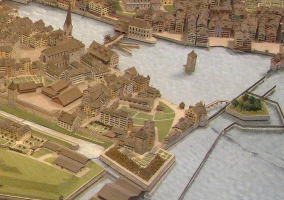 Stadtmodell Kratz um 1790