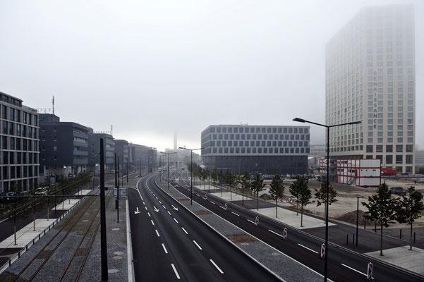 Pfingstweidstrasse stadteinwärt betrachtet