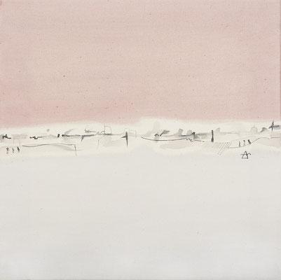 Serie Blanca, 41x41 cms. Acrílico sobre lienzo. 2003