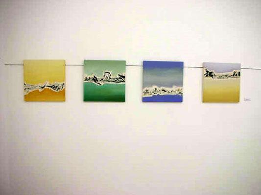 De ligeros paisajes dormidos en el aire. 2007