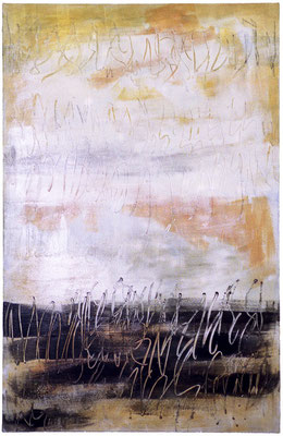 Serie Voces, 146x97 cms. Técnica mixta sobre lienzo.