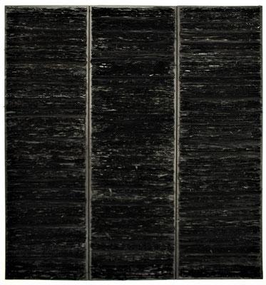 Colección de silencios 1. Técnica papel de seda sobre lienzo. 146x138cms. 2018