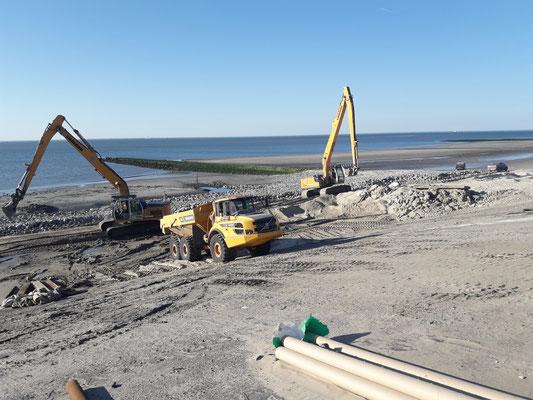 Ersatz der Deckwerke im Westen der Insel Wangerooge