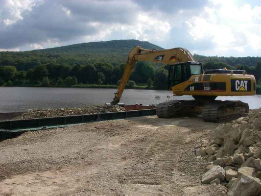Errichtung einer Umflut am Schieder See