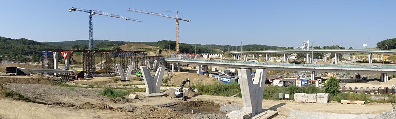 Spatenstich Tunnelarbeiten und feierliche Einsetzung der heiligen Barbara am 23. August in Prešov (Slowakei)