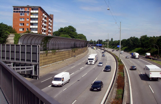 Bundesautobahn A 7 in Hamburg